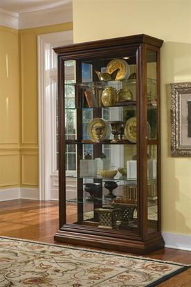 Picture of Pulaski #21015 Two Way Sliding Door Curio