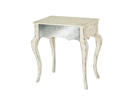 Picture Of Pulaski   Antique White Accent Table With Cabriole Legs