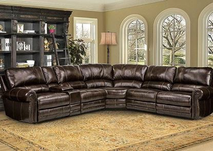Picture of Thurston Havana Leather Sectional